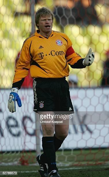 Fussball 1 Bundesliga 04/05 Muenchen 050205FC Bayern Muenchen Bayer 04 Leverkusen 20Torwart Oliver KAHN/Bayern