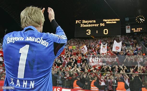 Fussball 1 Bundesliga 04/05 Muenchen FC Bayern Muenchen Hannover 96 30 Torwart Oliver KAHN / Bayern 061104