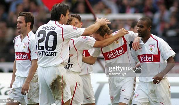Fussball 1 Bundesliga 04/05 Stuttgart VfB Stuttgart Borussia Dortmund 20 Jubel nach dem 10 durch Andreas HINKEL / Stuttgart 161004