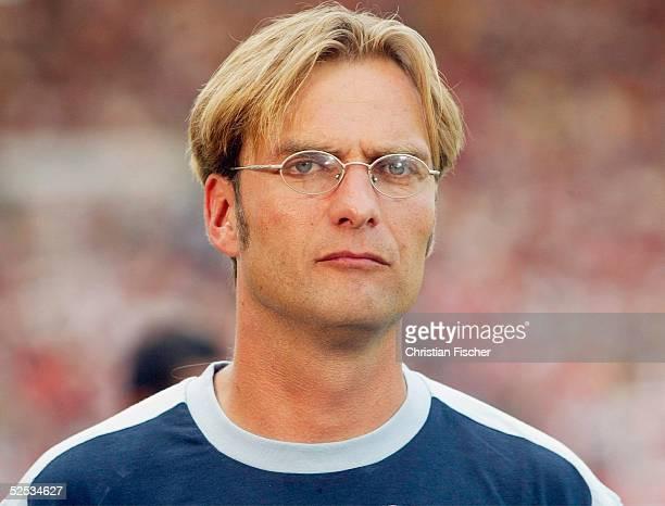 Fussball: 1. Bundesliga 04/05, Stuttgart; VfB Stuttgart - FSV Mainz 05 / 4:2; Trainer Juergen KLOPP / Mainz . 08.08.04.