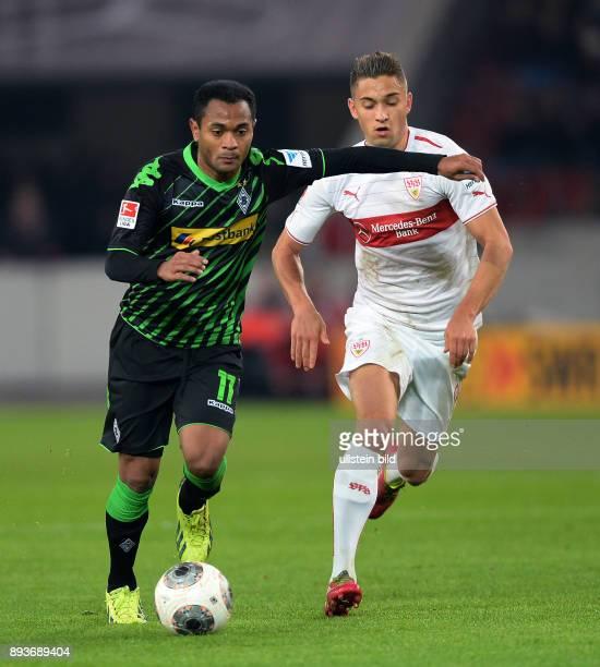 Fussball 1 Bundesliga Saison 2013/2014 13 Spieltag VfB Stuttgart Borussia Moenchengladbach Raffael gegen Moritz Leitner