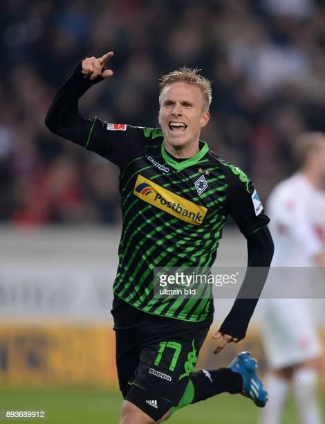 Fussball 1 Bundesliga Saison 2013/2014 13 Spieltag VfB Stuttgart Borussia Moenchengladbach Borussia Moenchengladbach Torschuetze zum 02 Oscar Wendt