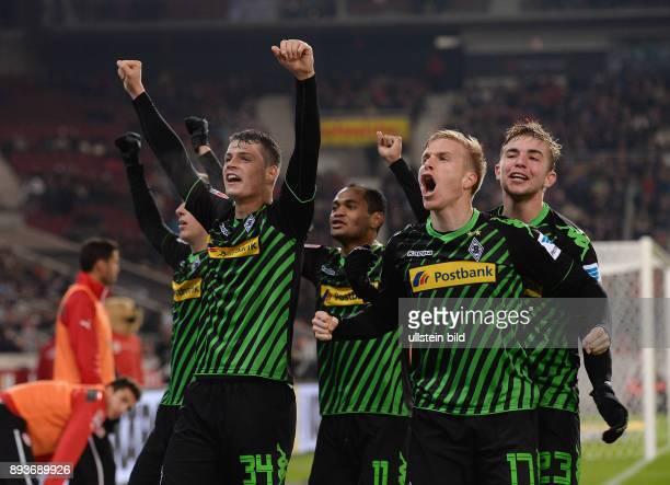 Fussball 1 Bundesliga Saison 2013/2014 13 Spieltag VfB Stuttgart Borussia Moenchengladbach Borussia Moenchengladbach Granit Xhaka Raffael Torschuetze...