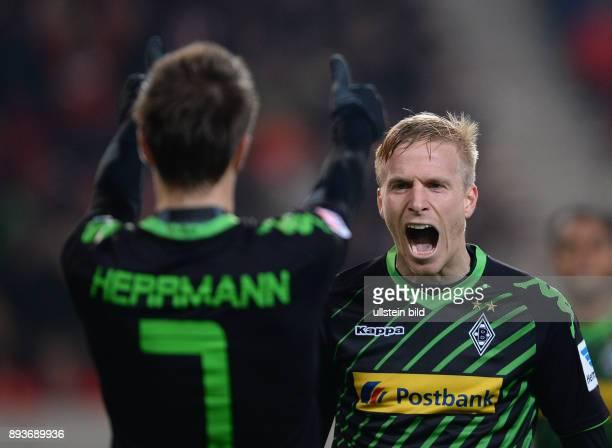 Fussball 1 Bundesliga Saison 2013/2014 13 Spieltag VfB Stuttgart Borussia Moenchengladbach Borussia Moenchengladbach Torschuetze zum 02 Oscar Wendt...