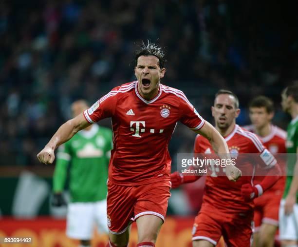 Fussball 1 Bundesliga Saison 2013/2014 15 Spieltag SV Werder Bremen FC Bayern Muenchen Bayern Muenchen Torschuetze zum 02 Daniel van Buyten