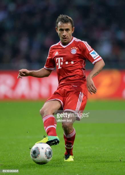 Fussball 1 Bundesliga Saison 2013/2014 15 Spieltag SV Werder Bremen FC Bayern Muenchen Rafinha am Ball