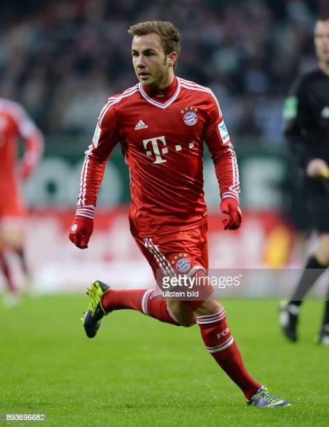 Fussball 1 Bundesliga Saison 2013/2014 15 Spieltag SV Werder Bremen FC Bayern Muenchen Mario Goetze