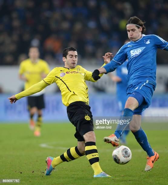 Fussball 1 Bundesliga Saison 2013/2014 16 Spieltag in Sinzheim Hoffenheim Borussia Dortmund Henrich Mkhitaryan gegen Sebastian Rudy