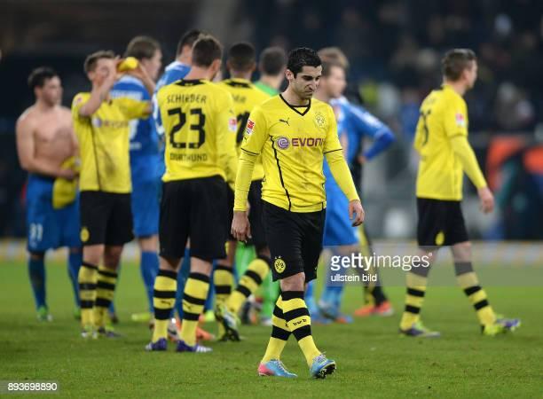 Fussball 1 Bundesliga Saison 2013/2014 16 Spieltag in Sinzheim Hoffenheim Borussia Dortmund Enttaeuschung Borussia Dortmund Henrikh Mkhitaryan...