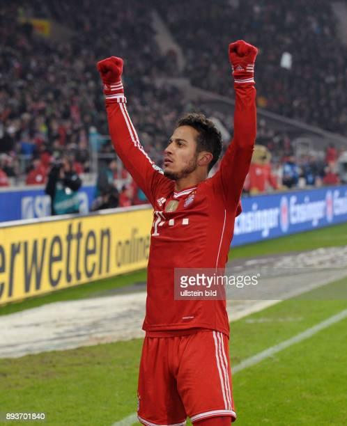 Fussball 1 Bundesliga Saison 2013/2014 17 Spieltag VfB Stuttgart FC Bayern Muenchen Bayern Muenchen Torschuetze zum 12 Thiago Alcantara