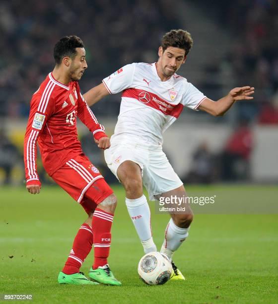 Fussball 1 Bundesliga Saison 2013/2014 17 Spieltag VfB Stuttgart FC Bayern Muenchen Thiago Alcantara gegen Rani Khedira