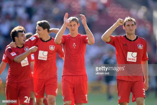 Fussball 1 Bundesliga Saison 2013/2014 2 Spieltag VfB Stuttgart Bayer Leverkusen Bayer Stefan Reinartz Stefan Kiessling Philipp Wollscheid und Giulio...