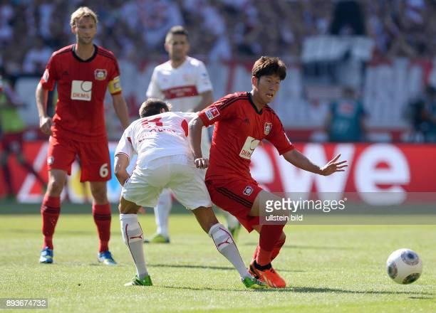 Fussball 1 Bundesliga Saison 2013/2014 2 Spieltag VfB Stuttgart Bayer Leverkusen HeungMin Son gegen Moritz Leitner