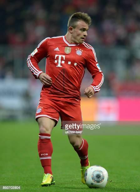 Fussball 1 Bundesliga Saison 2013/2014 25 Spieltag FC Bayern Muenchen Bayer Leverkusen Xherdan Shaqiri am Ball