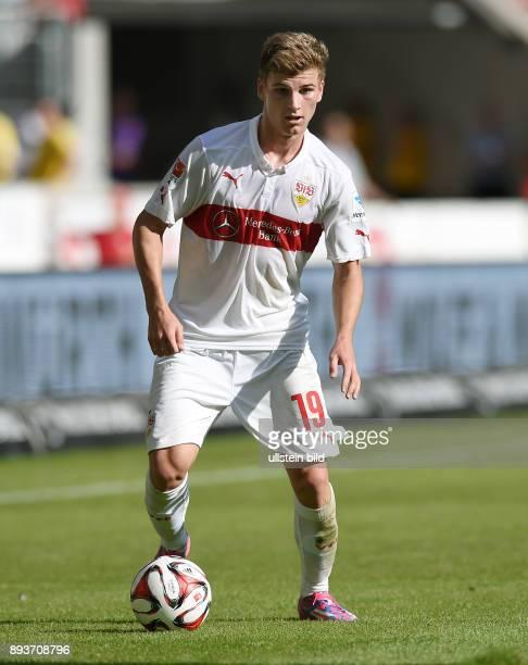 Fussball 1 Bundesliga Saison 2014/2015 4 SPIELTAG VfB Stuttgart TSG 1899 Hoffenheim Timo Werner am Ball