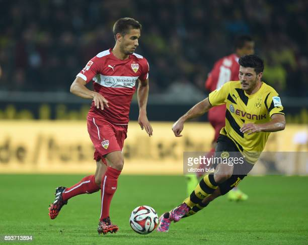 Fussball 1 Bundesliga Saison 2014/2015 5 SPIELTAG Borussia Dortmund VfB Stuttgart Moritz Leitner gegen Milos Jojic