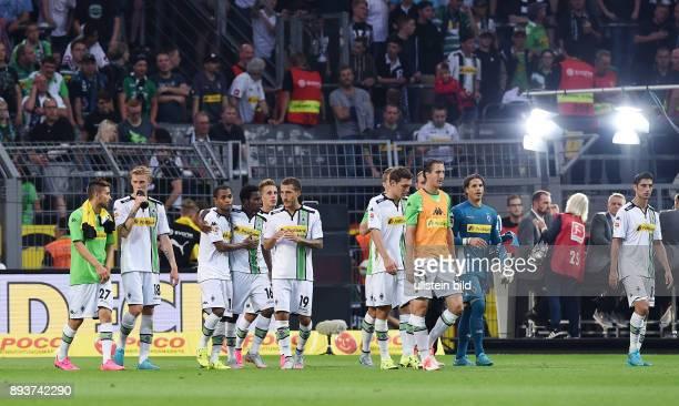 Fussball 1 Bundesliga Saison 2015/2016 1 Spieltag Borussia Dortmund Borussia Moenchengladbach Enttaeuschung Gladbach Lars Stindl Torwart Yann Sommer...