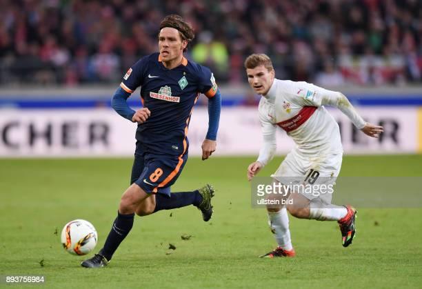 Fussball 1 Bundesliga Saison 2015/2016 15 Spieltag VfB Stuttgart SV Werder Bremen Clemens Fritz gegen Timo Werner