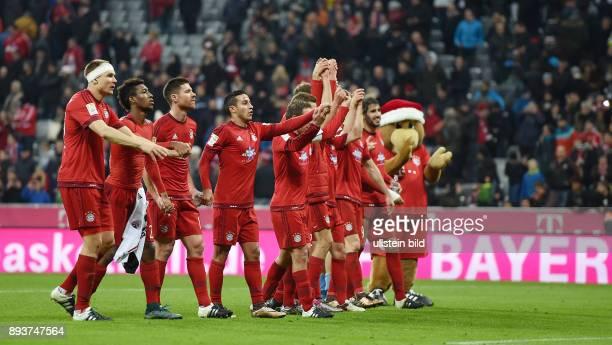 Fussball 1 Bundesliga Saison 2015/2016 16 Spieltag FC Bayern Muenchen FC Ingolstadt Bayern Muenchen Holger Badstuber Kingsley Coman Xabi Alonso...
