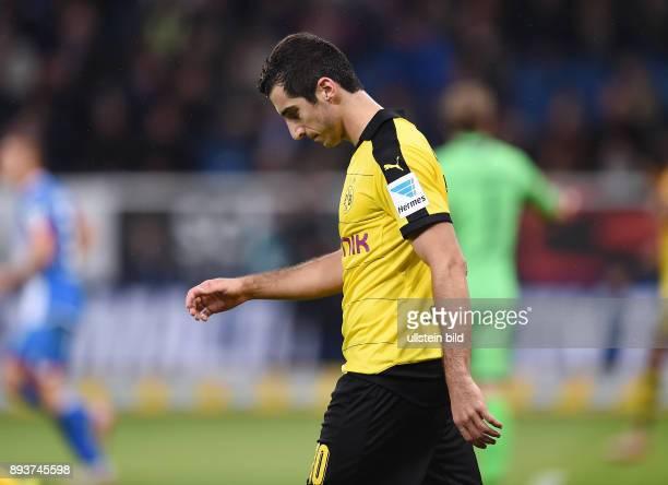 Fussball 1 Bundesliga Saison 2015/2016 6 Spieltag in Sinzheim Hoffenheim Borussia Dortmund Henrikh Mkhitaryan enttaeuscht