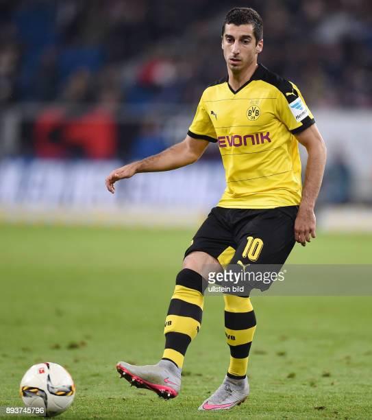 Fussball 1 Bundesliga Saison 2015/2016 6 Spieltag in Sinzheim Hoffenheim Borussia Dortmund Henrikh Mkhitaryan am Ball