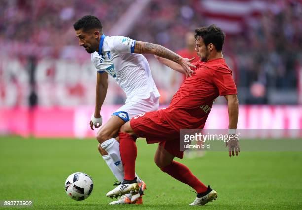 Fussball 1 Bundesliga Saison 2016/2017 10 Spieltag FC Bayern Muenchen TSG 1899 Hoffenheim Juan Bernat gegen Kerem Demirbay