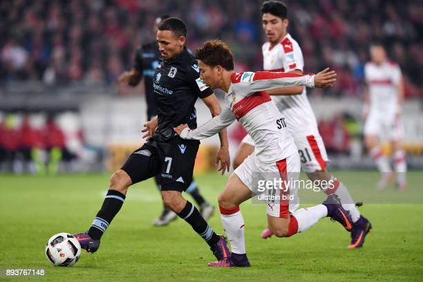 Fussball 1 Bundesliga Saison 2016/2017 10 Spieltag VfB Stuttgart 1860 Muenchen Takuma Asano gegen Daylon Claasen