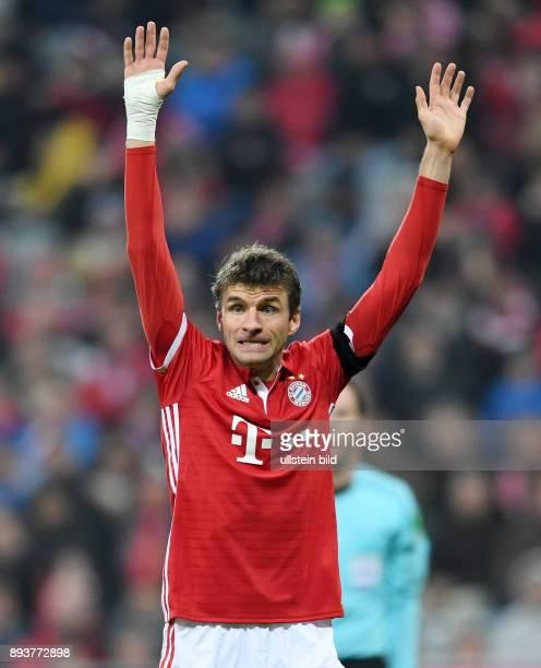 Fussball 1 Bundesliga Saison 2016/2017 12 Spieltag FC Bayern Muenchen Bayer 04 Leverkusen Thomas Mueller