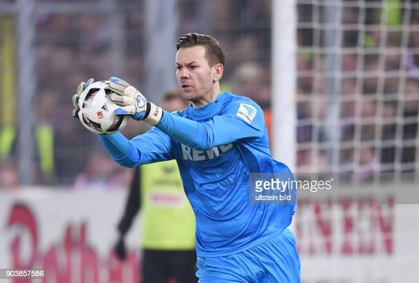 Fussball 1 Bundesliga Saison 2016/2017 20 Spieltag SC Freiburg 1 FC Koeln Torwart Thomas Kessler mit Ball