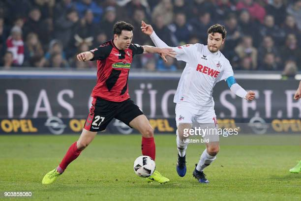 Fussball 1 Bundesliga Saison 2016/2017 20 Spieltag SC Freiburg 1 FC Koeln Nicolas Hoefler gegen Jonas Hector