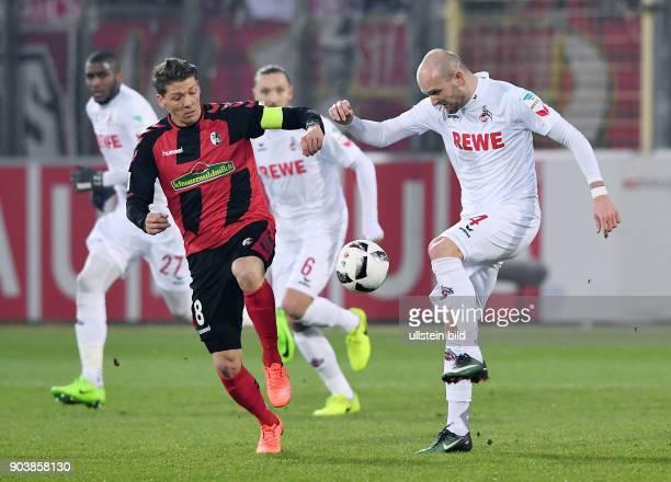 Fussball 1 Bundesliga Saison 2016/2017 20 Spieltag SC Freiburg 1 FC Koeln Mike Frantz gegen Konstantin Rausch