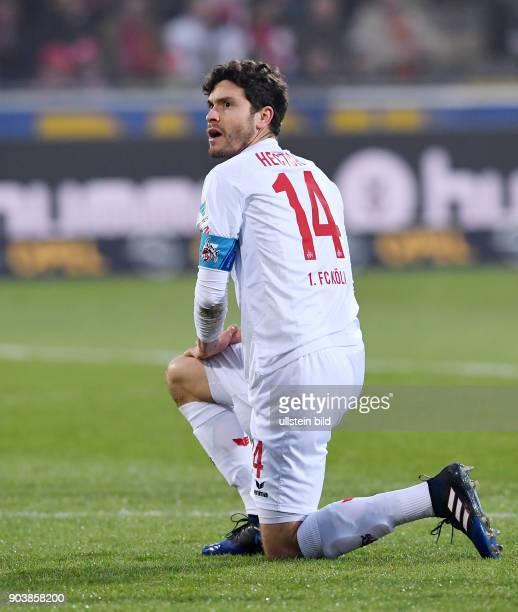 Fussball 1 Bundesliga Saison 2016/2017 20 Spieltag SC Freiburg 1 FC Koeln Jonas Hector nachdenklich