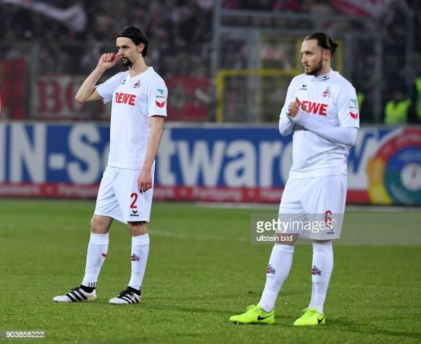 Fussball 1 Bundesliga Saison 2016/2017 20 Spieltag SC Freiburg 1 FC Koeln Enttaeuschung 1 FC Koeln Neven Subotic und Marco Hoeger