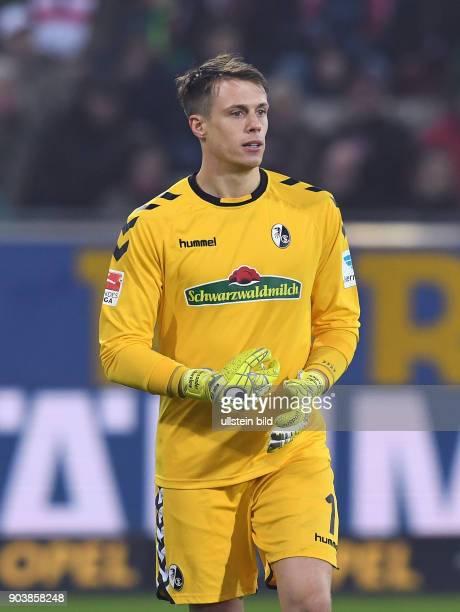 Fussball 1 Bundesliga Saison 2016/2017 20 Spieltag SC Freiburg 1 FC Koeln Torwart Alexander Schwolow