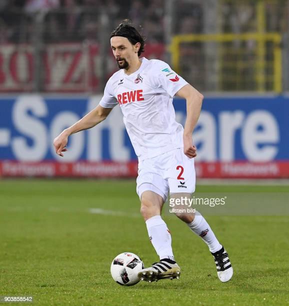 Fussball 1 Bundesliga Saison 2016/2017 20 Spieltag SC Freiburg 1 FC Koeln Neven Subotic am Ball