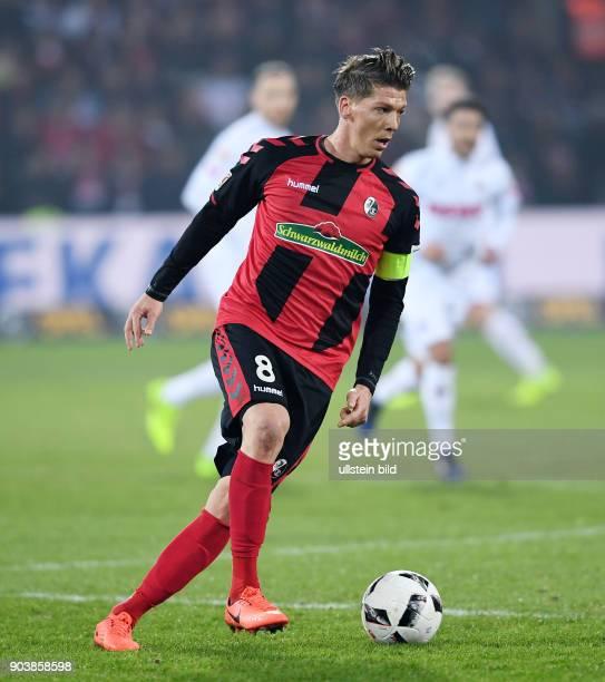 Fussball 1 Bundesliga Saison 2016/2017 20 Spieltag SC Freiburg 1 FC Koeln Mike Frantz am Ball