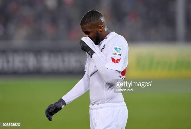 Fussball 1 Bundesliga Saison 2016/2017 20 Spieltag SC Freiburg 1 FC Koeln Enttaeuschung Anthony Modeste