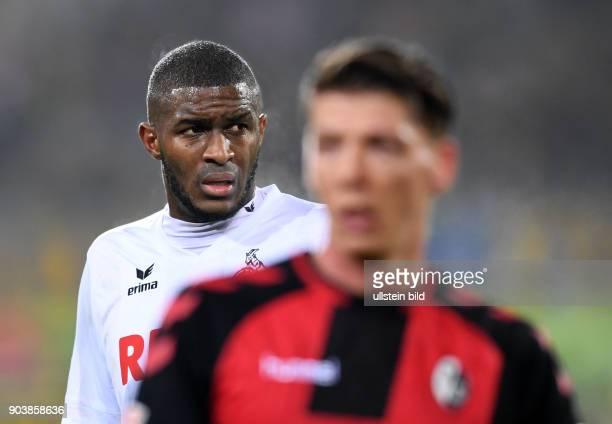 Fussball 1 Bundesliga Saison 2016/2017 20 Spieltag SC Freiburg 1 FC Koeln Anthony Modeste nachdenklich