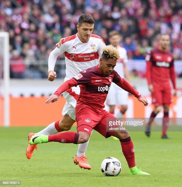 Fussball 1 Bundesliga Saison 2016/2017 22 Spieltag VfB Stuttgart 1 FC Kaiserslautern Philipp Mwene gegen Anto Grgic