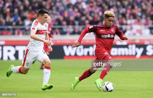Fussball 1 Bundesliga Saison 2016/2017 22 Spieltag VfB Stuttgart 1 FC Kaiserslautern Philipp Mwene gegen Josip Brekalo