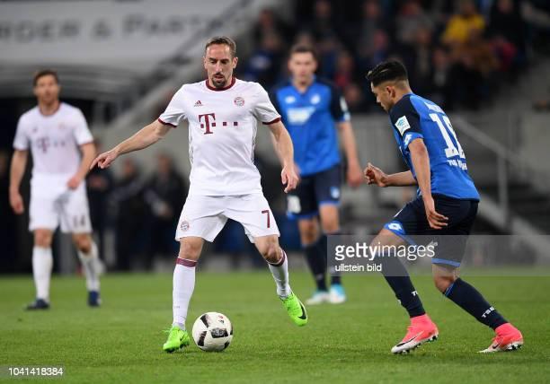 Fussball 1 Bundesliga Saison 2016/2017 27 Spieltag Hoffenheim FC Bayern Muenchen Franck Ribery gegen Nadiem Amiri