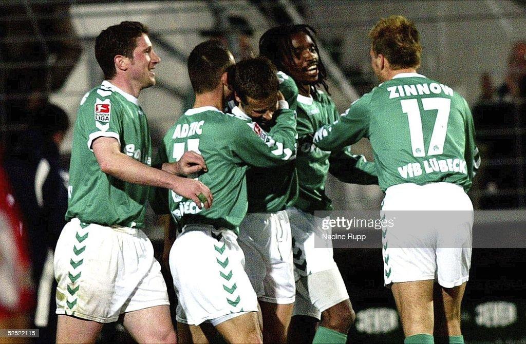 Fussball: 2. BL 03/04, VfB Luebeck-Rot-Weiss Oberhausen : News Photo