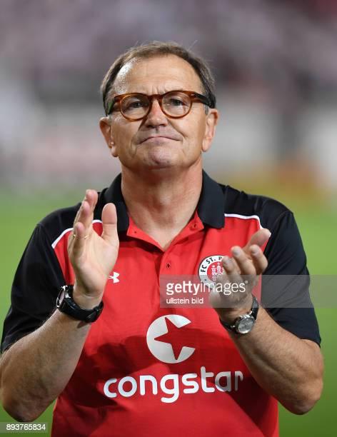 Fussball 2 Bundesliga Saison 2016/2017 1 Spieltag VfB Stuttgart FC St Pauli Enttaeuschung FC St Pauli Trainer Ewald Lienen