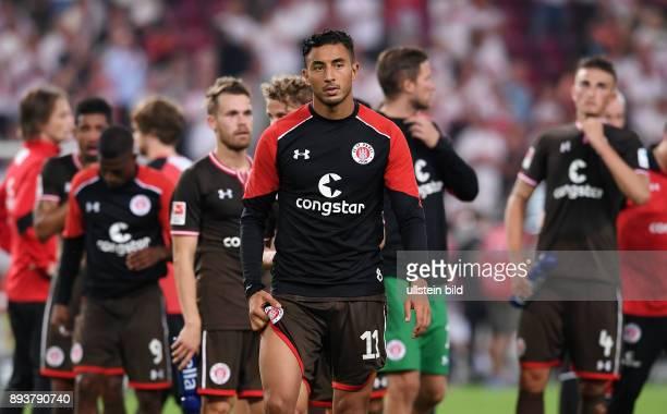 Fussball 2 Bundesliga Saison 2016/2017 1 Spieltag VfB Stuttgart FC St Pauli Enttaeuschung FC St Pauli Torschuetze zum 01 Aziz Bouhaddouz