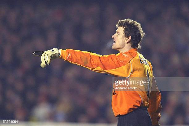 Fussball Champions League 03/04 London Arsenal London Celta de Vigo Torwart Jens LEHMANN / Arsenal 100304