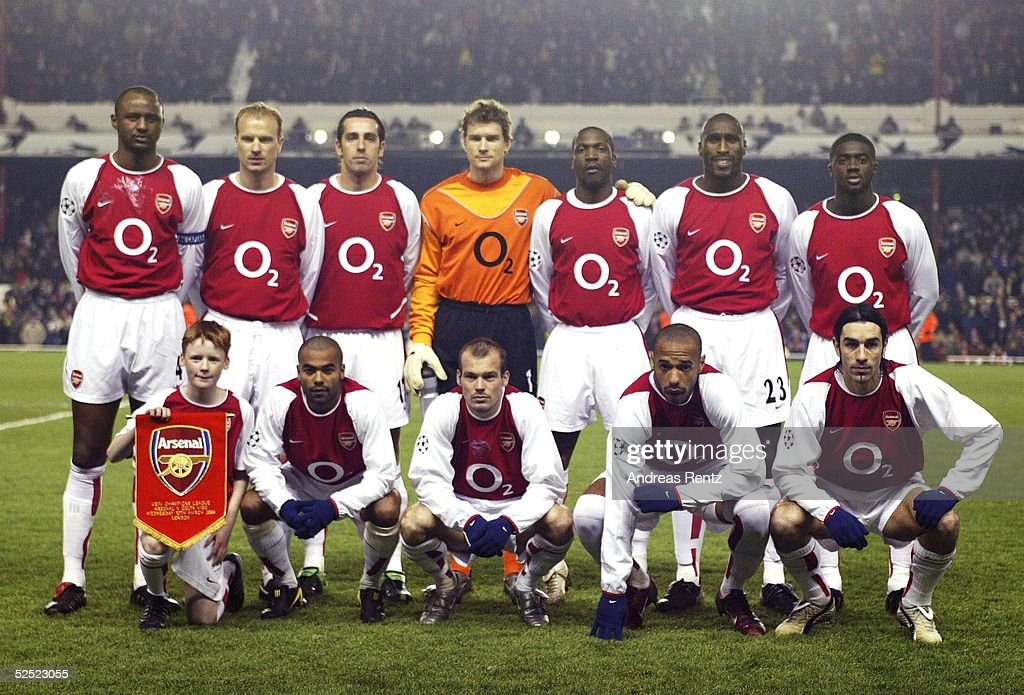 Champions League 03/04, London; Arsenal London - Celta de Vigo; Team Arsenal London 10.03.04.
