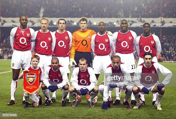 Fussball Champions League 03/04 London Arsenal London Celta de Vigo Team Arsenal London 100304