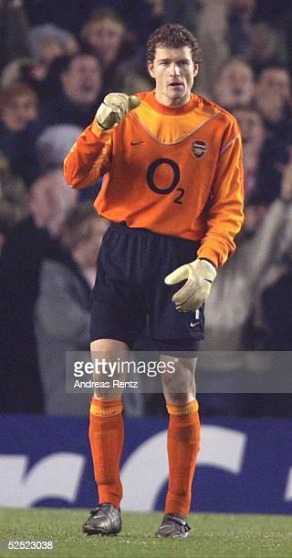 Fussball Champions League 03/04 London Arsenal London Celta de Vigo20 Torwart Jens LEHMANN / Arsenal 100304