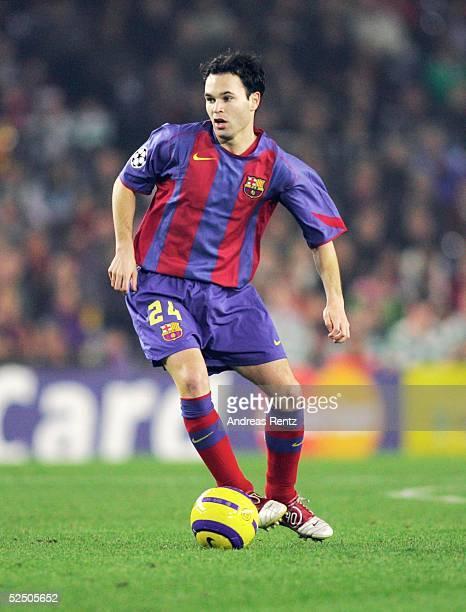 Fussball: Champions League 04/05, Barcelona; FC Barcelona - Celtic Glasgow 1:1; Andres INIESTA / Barca 24.11.04.