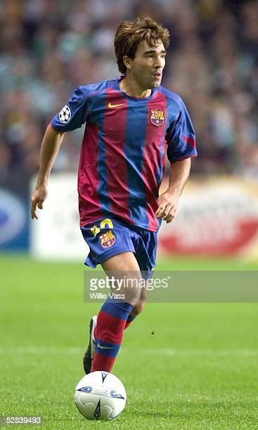 Fussball: Champions League 04/05, Glasgow; Celtic Glasgow - FC Barcelona 1:3; Deco/ Barcelona 14.09.04.